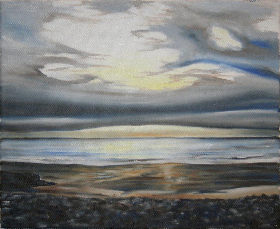 Grey sky at Borth (2012)